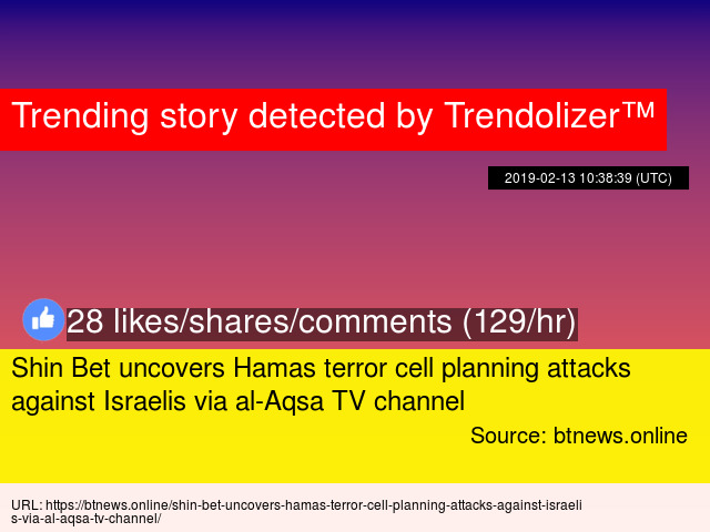 Shin Bet uncovers Hamas terror cell planning attacks against