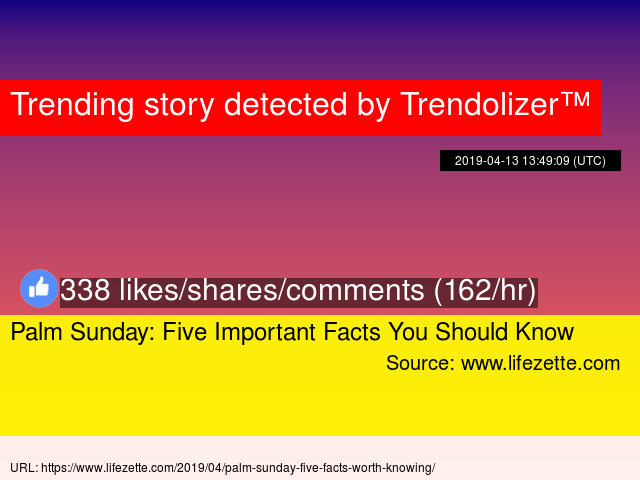 111d59ae5a2 Palm Sunday  Five Important Facts You Should Know