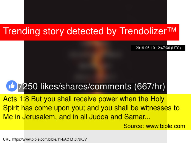 Acts 1:8 But you shall receive power when the Holy Spirit