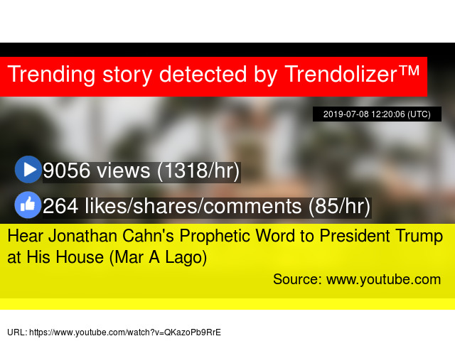 Hear Jonathan Cahn's Prophetic Word to President Trump at
