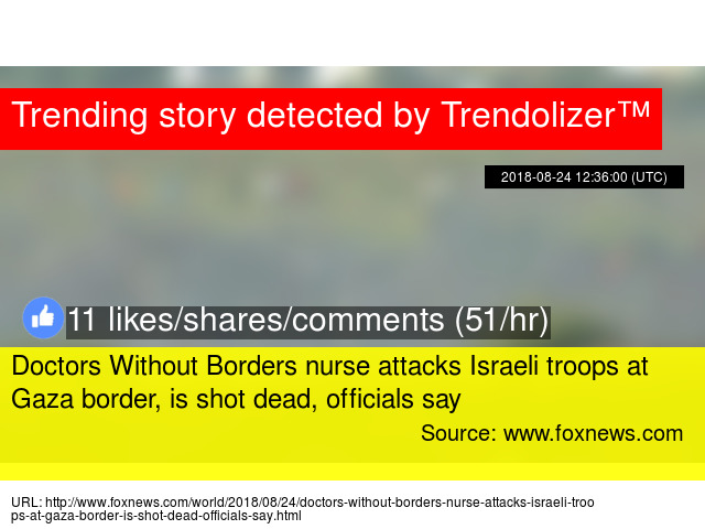 Doctors Without Borders Nurse Attacks Israeli Troops At Gaza Border Is Shot Dead Officials Say