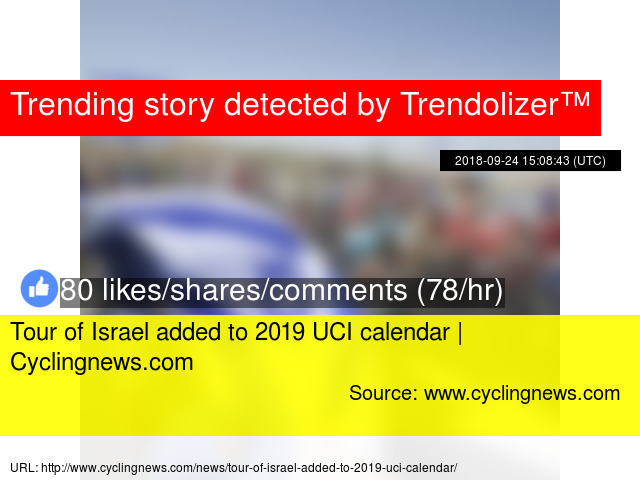 Tour of Israel added to 2019 UCI calendar   Cyclingnews com